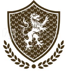 Logo mit Löwe